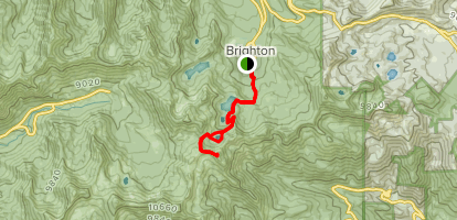 Sunset Peak via Brighton Lakes Trail Map