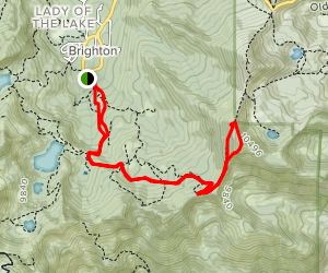 Snake Creek Pass and Clayton Peak Map