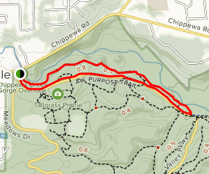 Hemlock and All Purpose Trail Loop from Chippewa Creek Gorge Overlook Map