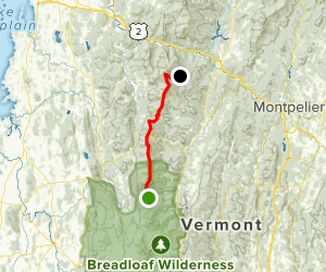 Lincoln's Gap to Camel's Hump via Long Trail Map