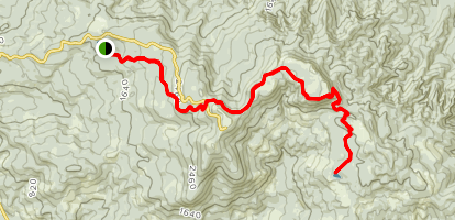 North and South Lake via Pioneer Indian Trail  Map