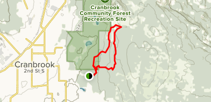 Arbor Trail and Going up Trail Loop Map