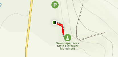 Newspaper Rock Trail Map