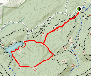 Foothills Trail to Cabin White Trail Loop Map