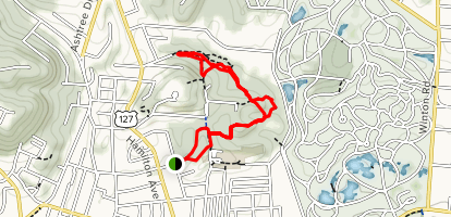 Parker Woods and Buttercup Valley Map