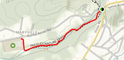 Pacolet Nature Trail Map