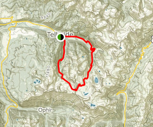 Bear Creek Trail to Wasatch Trail to Bridal Veil Loop Map