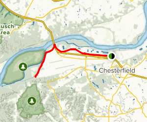 Monarch Chesterfield Levee Trail Map