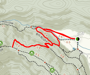 Blake's Cabin and Big Bluff Trail  Map