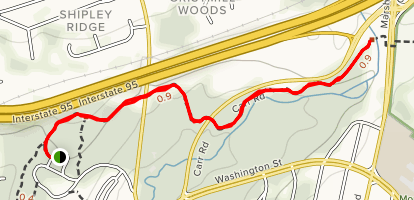Rockwood Park to Marsh Road via Northern Delaware Greenway Trail Map