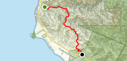 Old Coast Road from Highway 1 Map