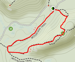 Mountain Trail to South Ridge Trail Loop Map