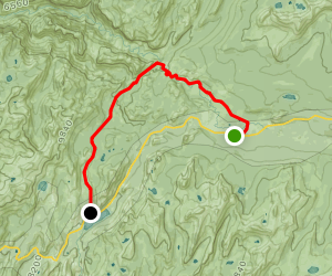 Tuolumne Meadows to Tenaya Lake via Pacific Crest and Glen Aulin Trails Map