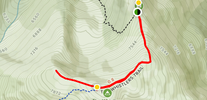 Whistlers Summit Trail with Jasper Tramway Map