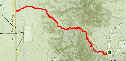 Baylor Pass National Recreation Trail Map