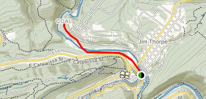 Lehigh Gorge Trail from Jim Thorpe to Abandoned Tunnel Map