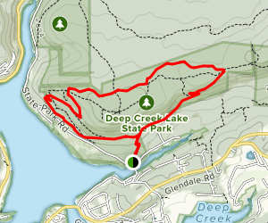 Indian Turnip Trail to Beckman's Trail Loop Map