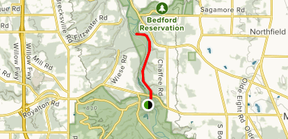Ohio and Erie Canal Path: Brecksville Station Map