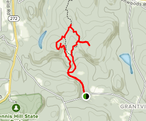 Pine Mountain and Eastern Summit Map