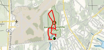 Map Of Quogue New York.Red Yellow And Green Loop New York Alltrails