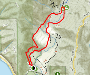 Skyline to the Sea Trail Loop Map