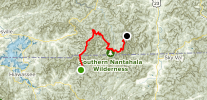 Appalachian Trail from Charles Creek to Mooney Gap Map