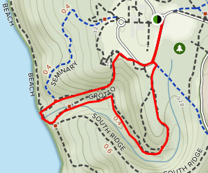 Orchard Loop to Grotto Trail Map