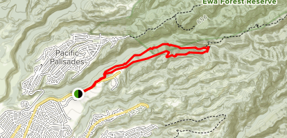 Waimano Trail: Upper Section Loop Map