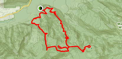 Cast and Burnt Lake Loop via Cast Creek and Zigzag Mountain Trails Map