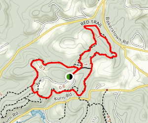 Red and Blue Trails Loop Map