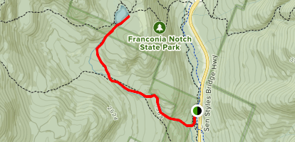 Cascade Brook Trail to Lonesome Lake Map