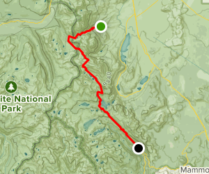 Bloody Canyon Trail to Agnew Meadows Map