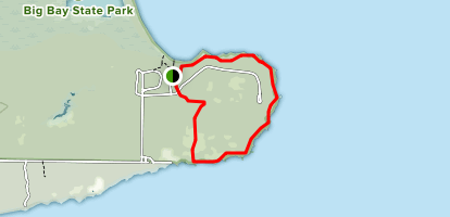 Bay View and Woods Trail Loop Map