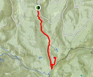 Noble Knob Northern Approach Map