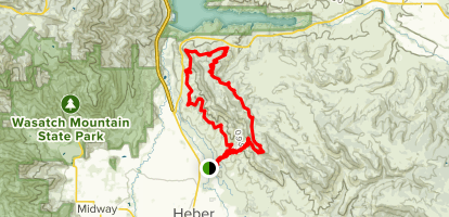 Coyote Canyon Loop from Coyote Lane Map