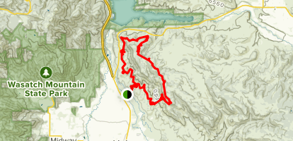 Coyote Canyon Loop from UVU Trailhead Map
