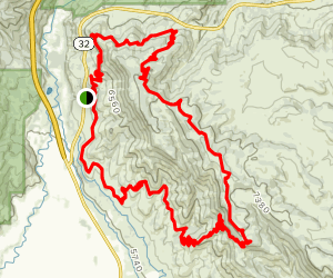 Coyote Canyon Loop from Riverview Trailhead Map