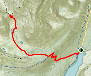 Sentinel Pass via Larch Valley Trail Map