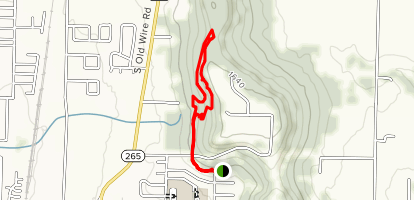 Coyote Cave and Butterfield Trail Map