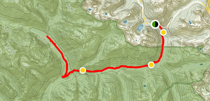 Bridge Creek Trail to North Fork, Grizzly Creek Map