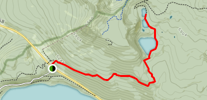 Lower, Middle, and Upper Rosary Lake Map