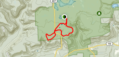 Old Beaver Dam and Grand View Trail Loop  Map