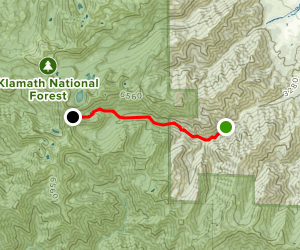 Kidder Creek Trailhead to Pacific Crest Trail Map