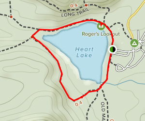 Indian Pass and Heart Lake Loop Trail  Map