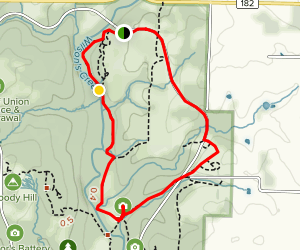 Gibson's Mill, Ray Cornfield and Wire Road Trail  Map