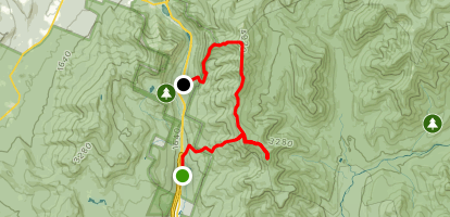 Liberty Spring to Franconia Ridge to Old Bridle Path Trail Map