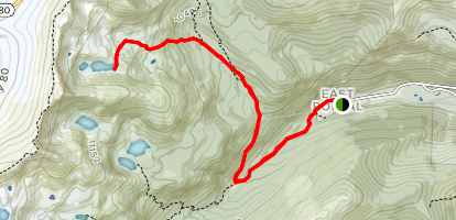 Arapaho Lakes via Rogers Pass Trail and Forest Lakes Trail Map