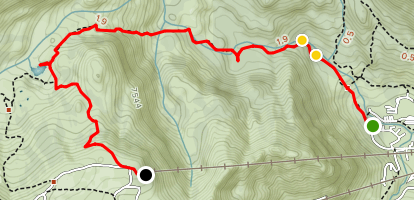 Shirley Canyon Cascades Trail Map