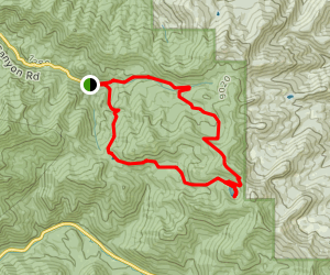 Desolation Lake Loop via Little Water Trail to Old Red Pine Road Map