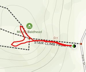 Stairs to Mount Baldhead Map